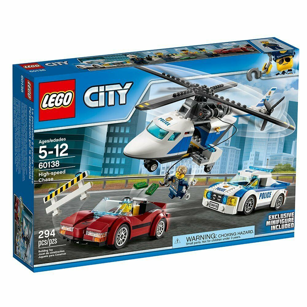 Lego City Police High Speed Chase 60138 Nib 2017 Set W Exclusive Minifigure 2020 Parti