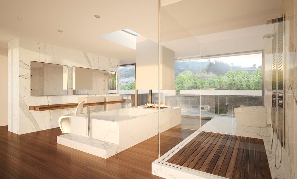 Architectural visualization of a luxury house in Palos Verdes, Los