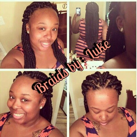 She loved it! #BoxBraids #mediumsize #NewClient #BraidsbyMe #GiftedHands #4hours #fabulized #ThanksGirl for the love.