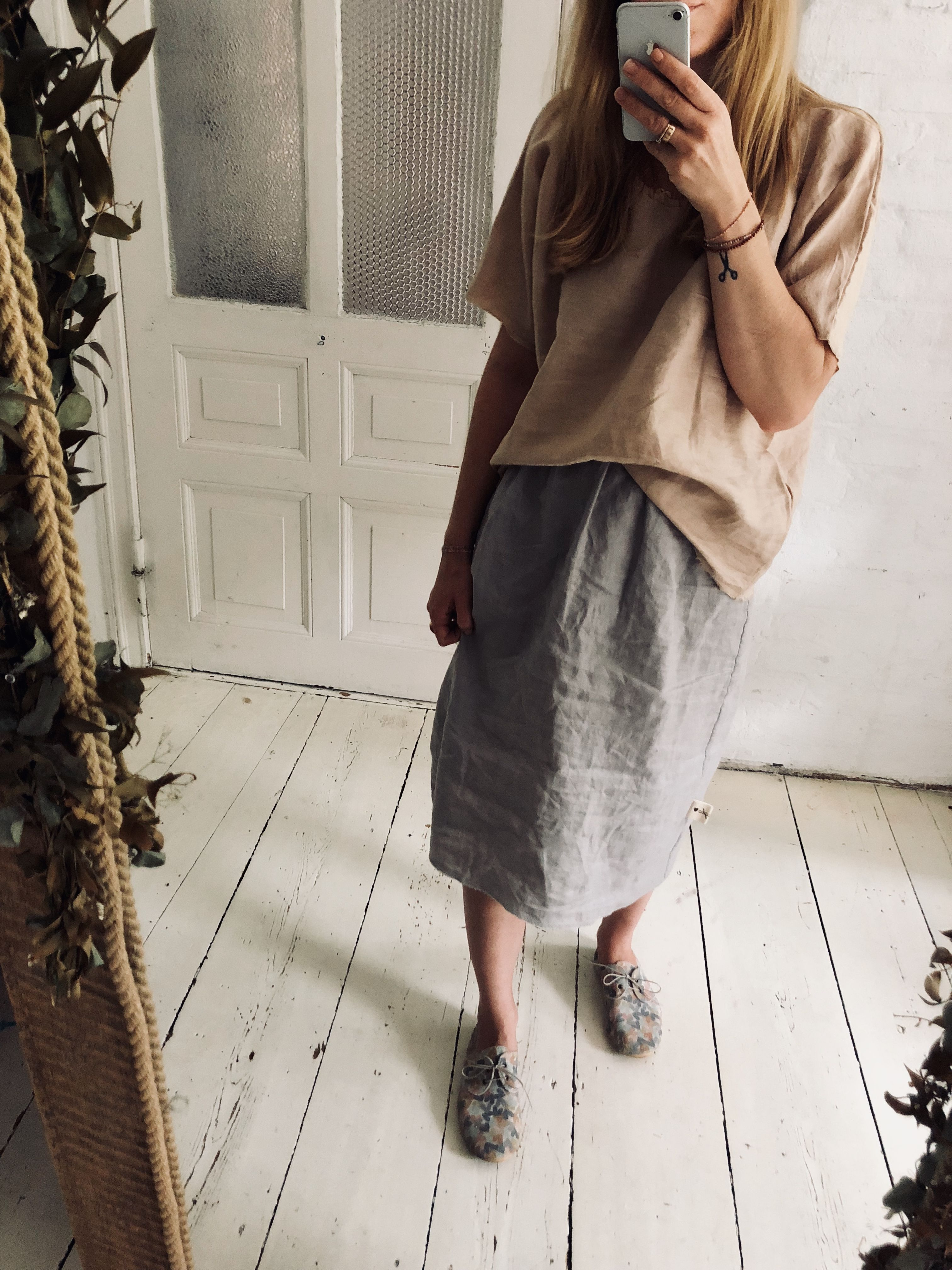 Brunoszka Gray Skirt Skirts Midi Skirt