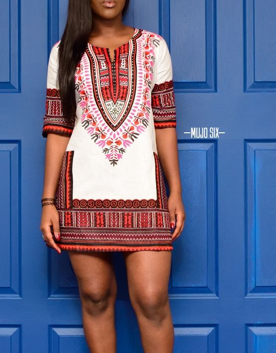 100 Original Cotton Custom Cut Dashiki Dress Each Garment Is Tailored To Size Measure Your Bicep By Wring A Tape Around The Largest Part Of