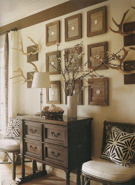 Eye For Design Decorating With Antlers Rustic And Elegant Home Decor Decor Rustic Living Room Deer antler living room decor