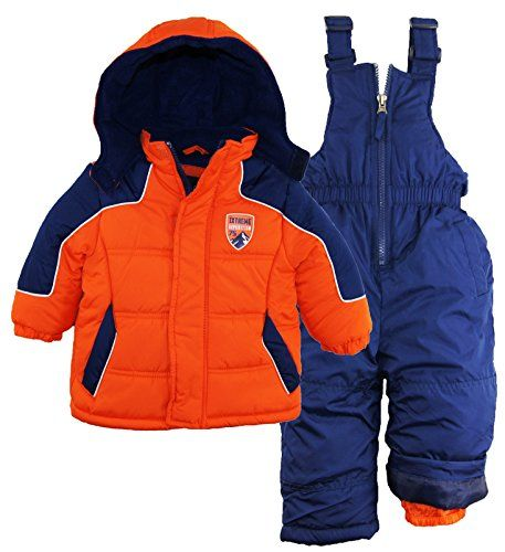 iXtreme Baby Boys Down Alternative Bubble Snowsuit Ski Bib and Jacket Set