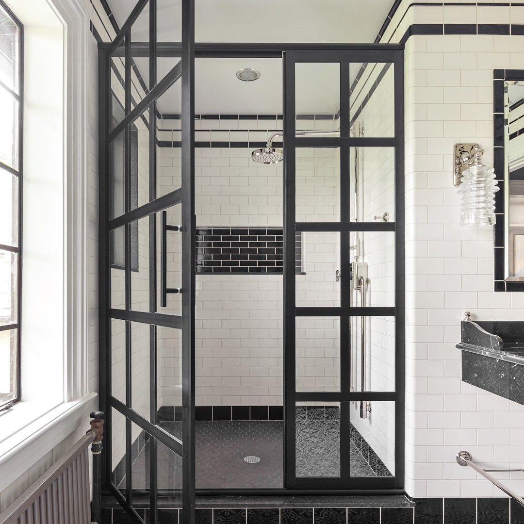 Window Pane Shower Door.Gridscape Series Factory Window Pane Shower Door Featuring