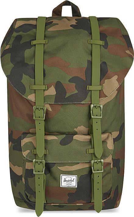 978c04f5162 Herschel supply co. Little America Backpack in Green for Men ...
