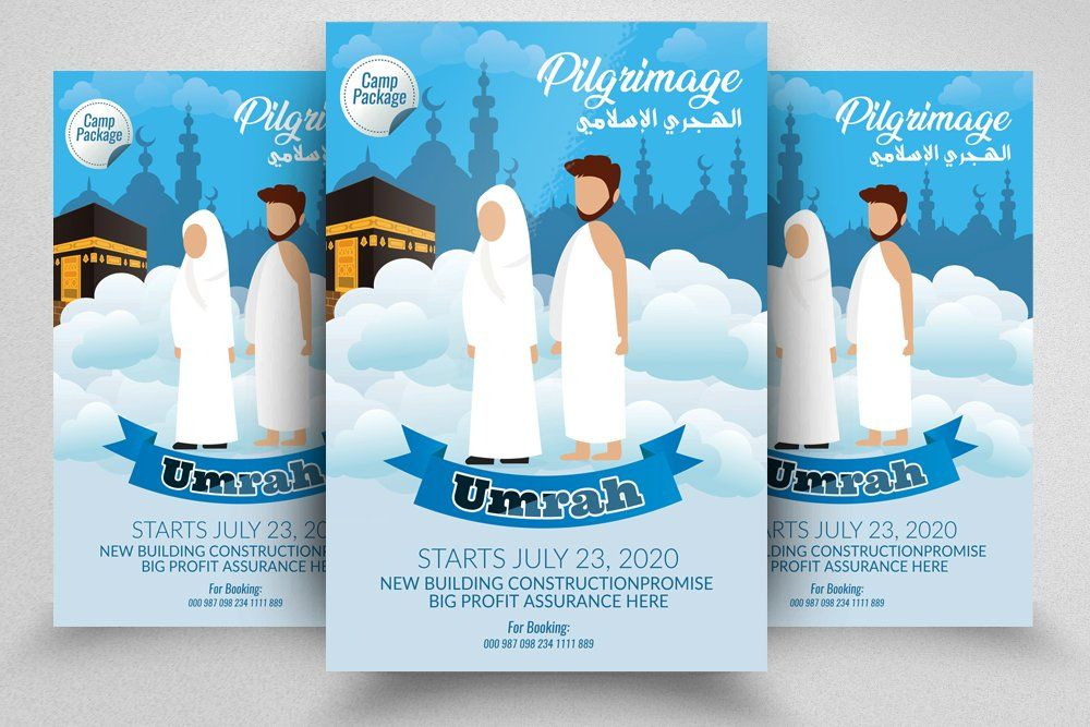 Hajj and Umrah Flyer Template in 2020 Flyer template