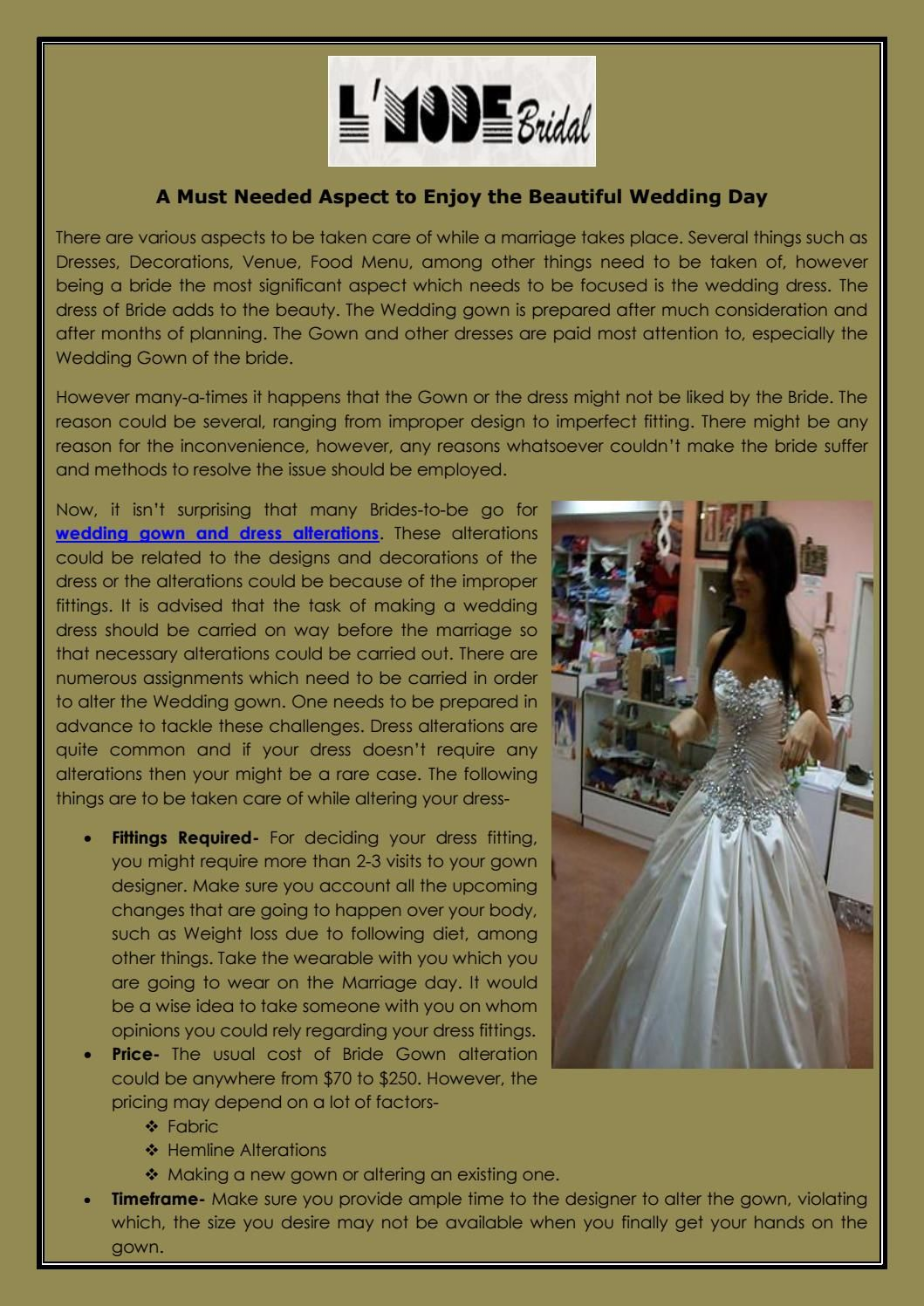 After wedding dress ideas  A Must Needed Aspect to Enjoy the Beautiful Wedding Day  Consideration