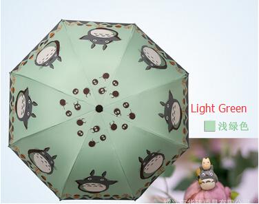 Women Umbrellas Studio Ghibli Totoro Brand Umbrella Female Cute Funny Folding Anime Umbrellas Rain Cheap UV for ladies