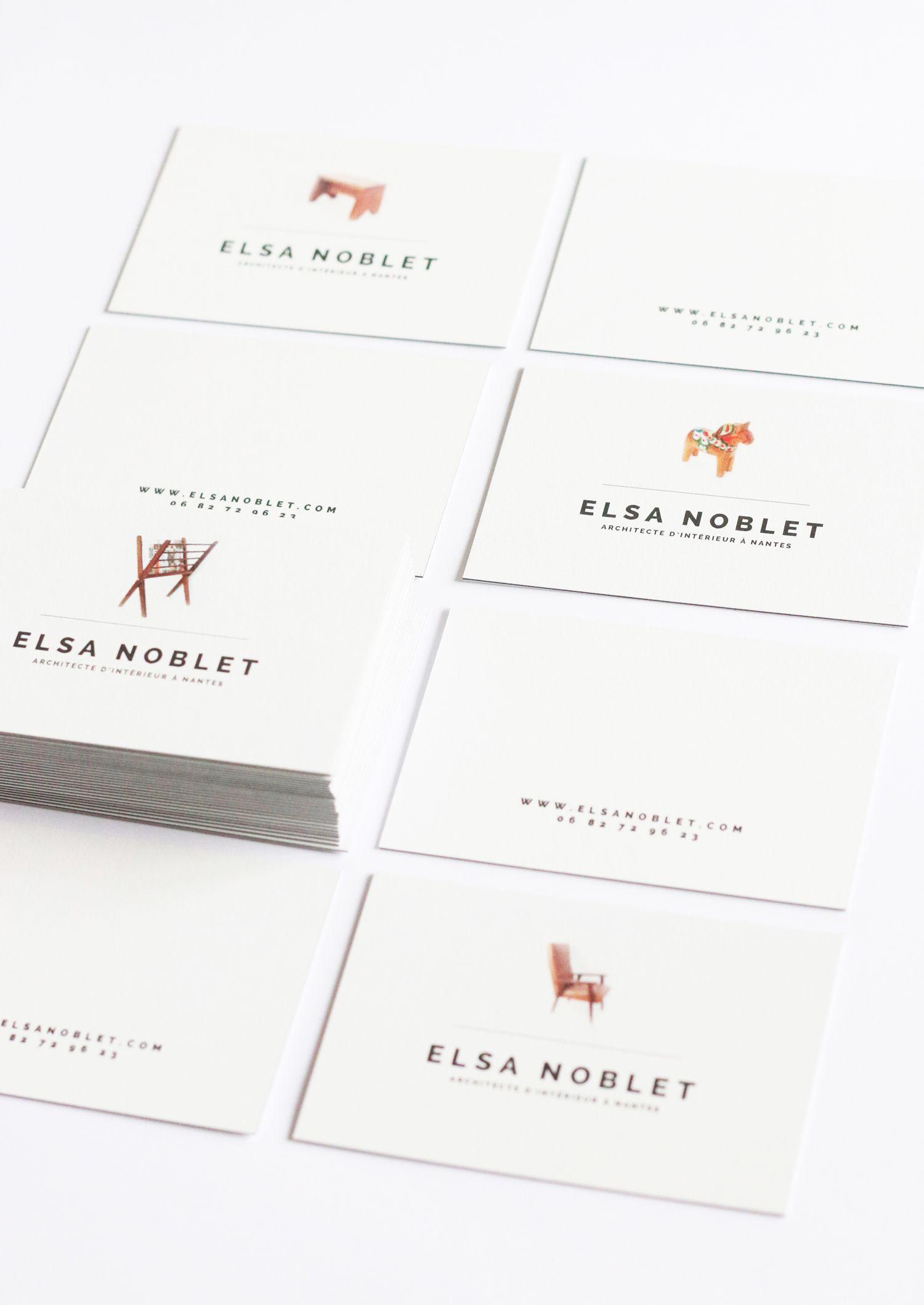 Elsa Noblet / French interior designer business cards   >>> design ...