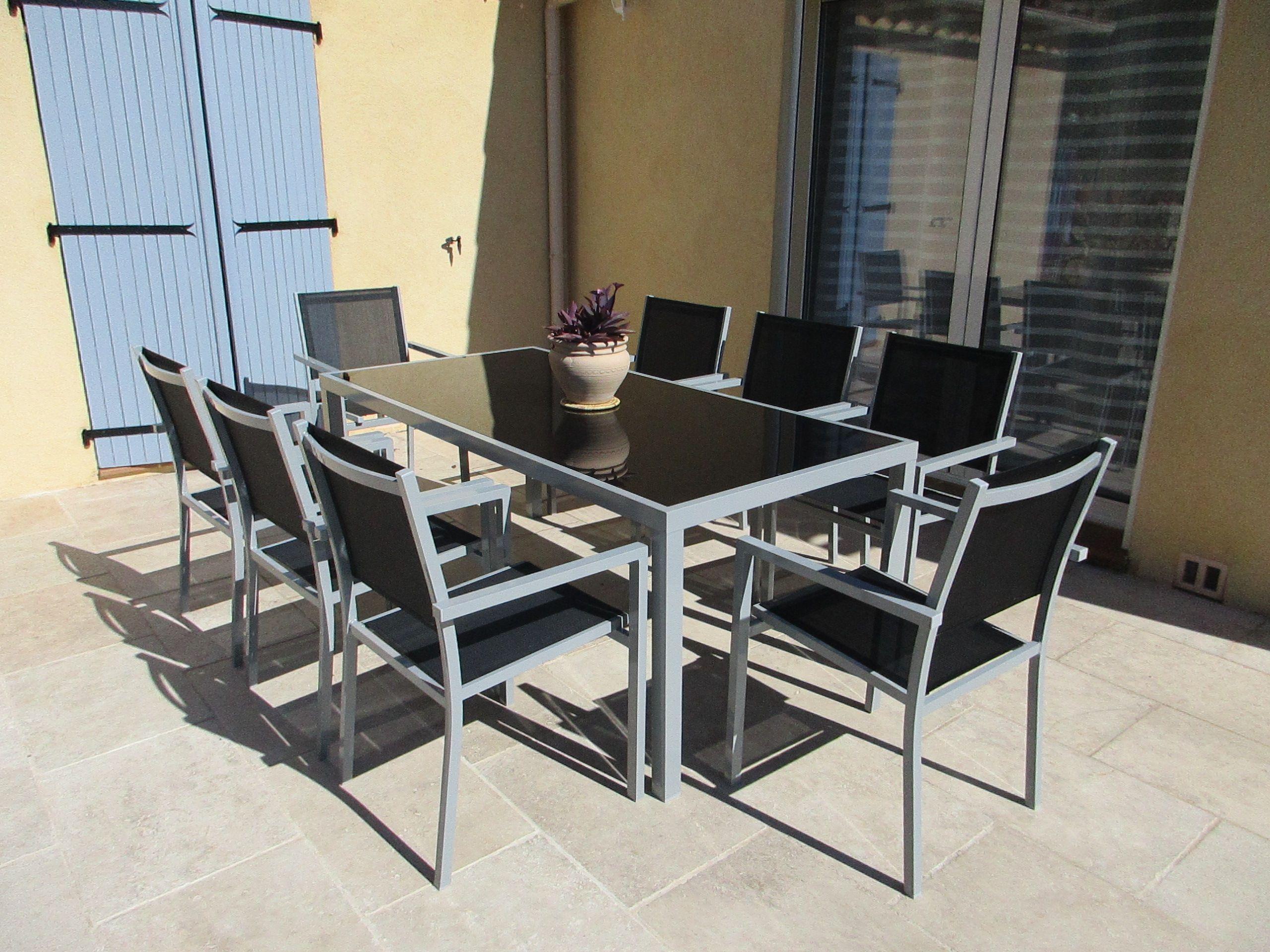 Salon De Jardin Leger capua 180   agrément de jardin, mobilier jardin et table de