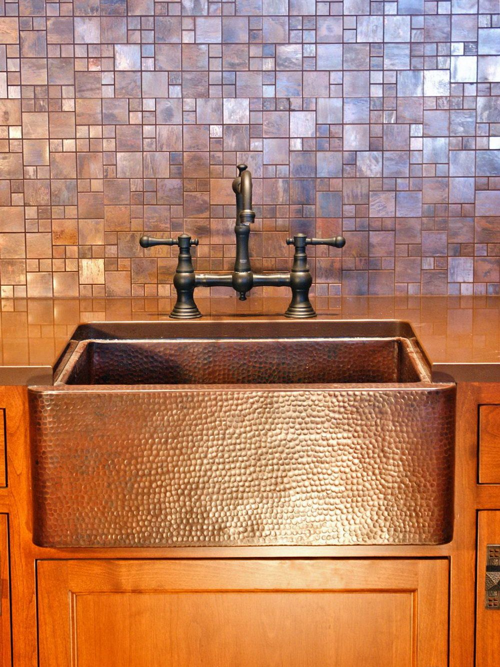 Copper Tiles For Kitchen Backsplash Trendy kitchen