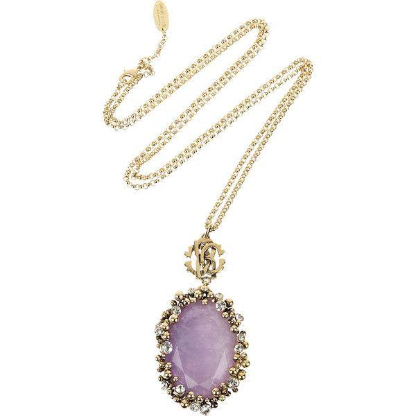 Roberto Cavalli Amethyst pendant necklace ($450) ❤ liked on Polyvore