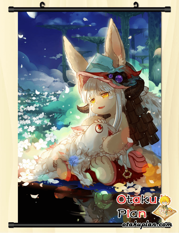 Made In Abyss Flowers And Rabbit Wallpaper Wall Scroll