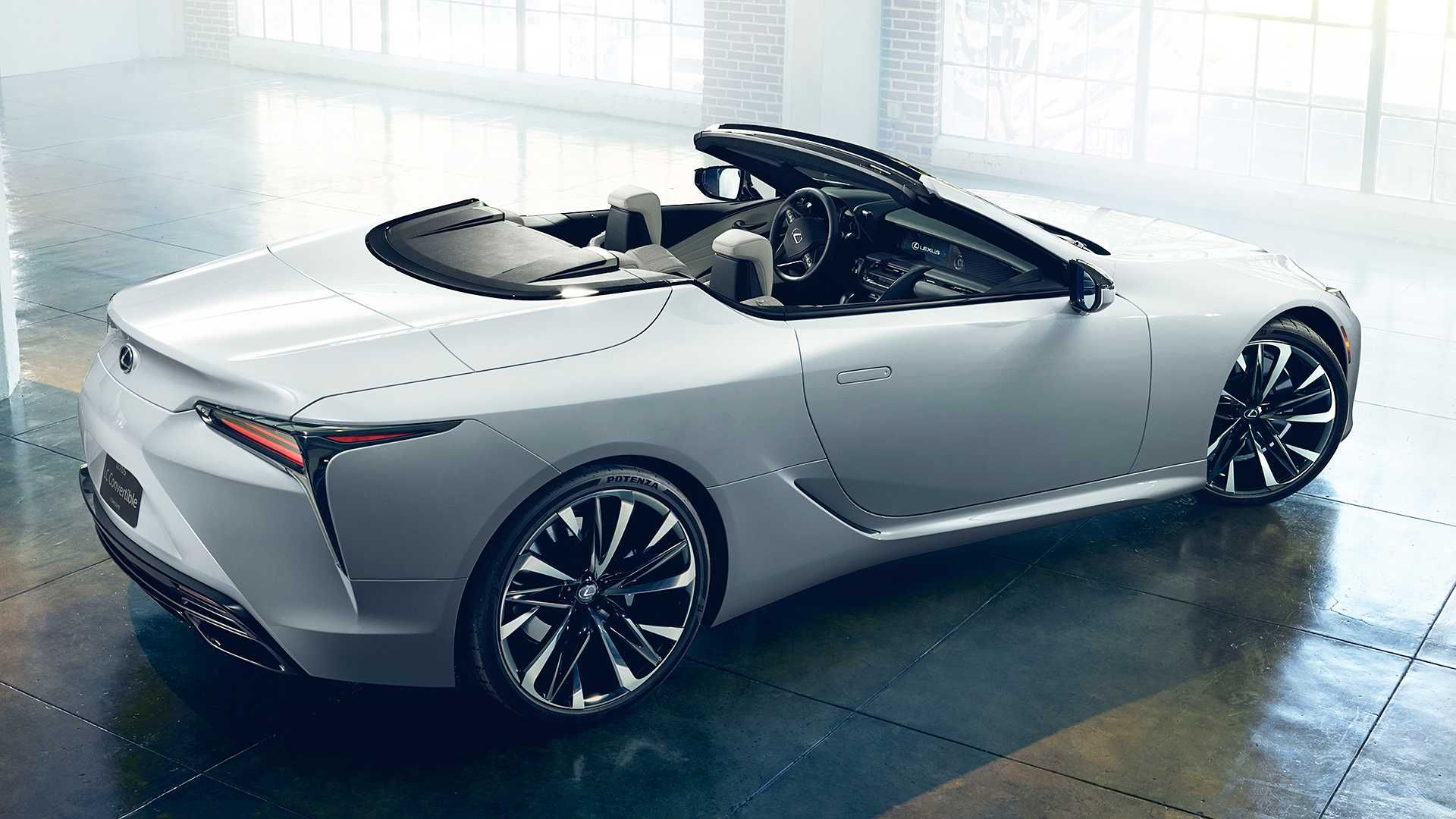 The Lexus LC Convertible Concept previews a stylish open