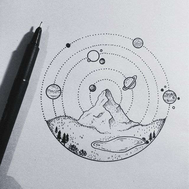 Image Result For Simple Planet Drawing With Images Sketches