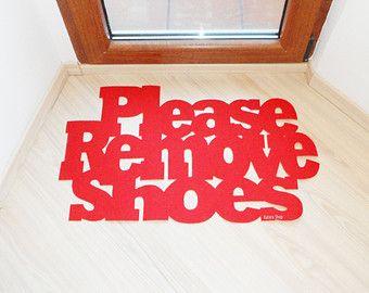 Shoes Off door mat. Custom doormat. Home decor. Elegant by Xatara