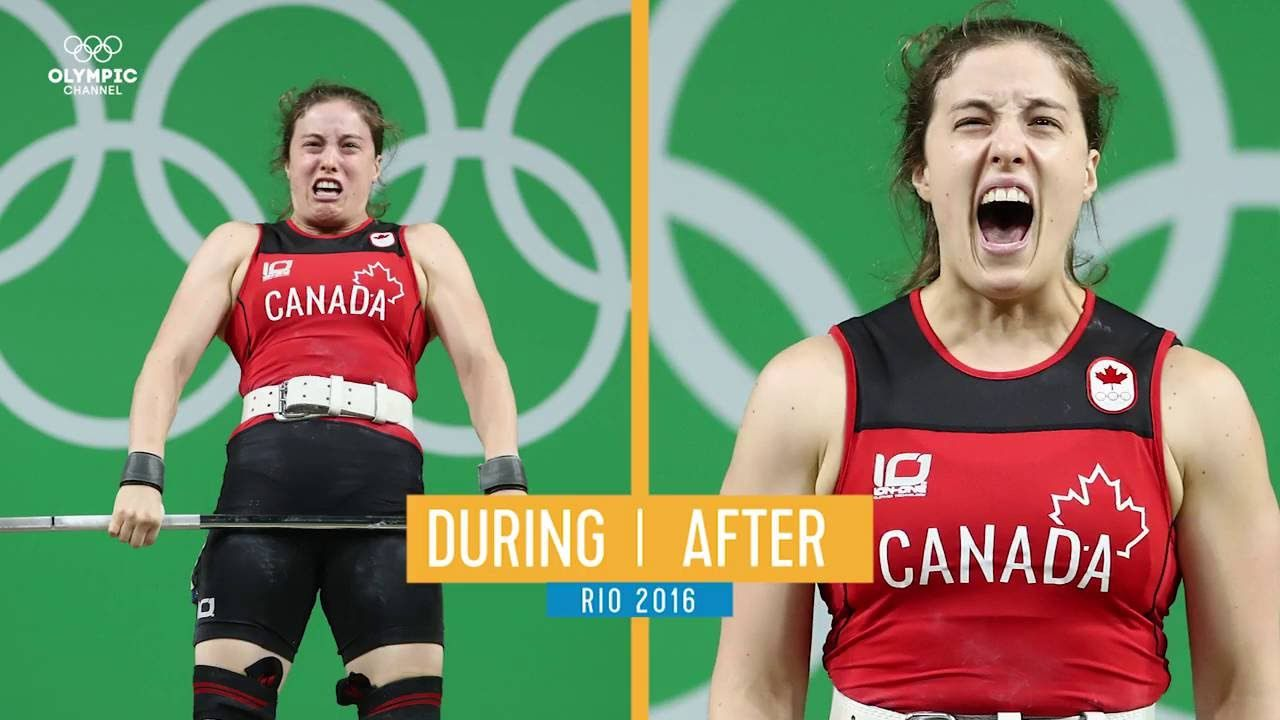 Weightlifting face or celebration face Rio Olympics 2016
