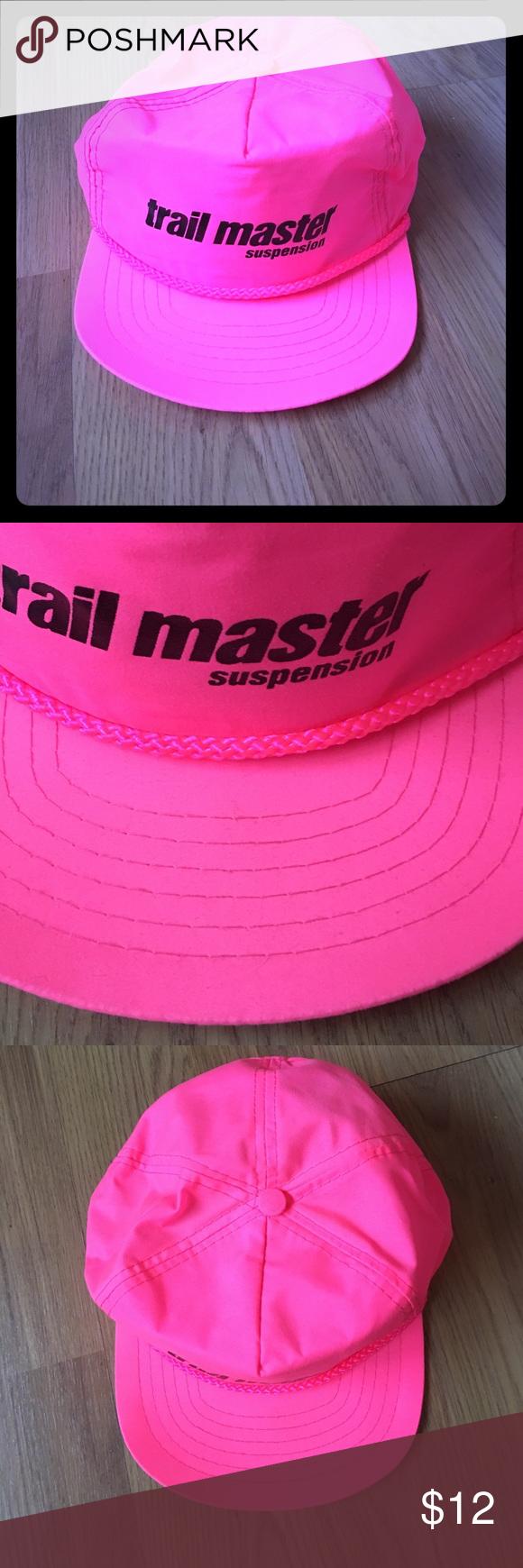 Vintage Trail Master Suspension Neon Pink Hat Pink Hat Neon Pink Pink Ladies