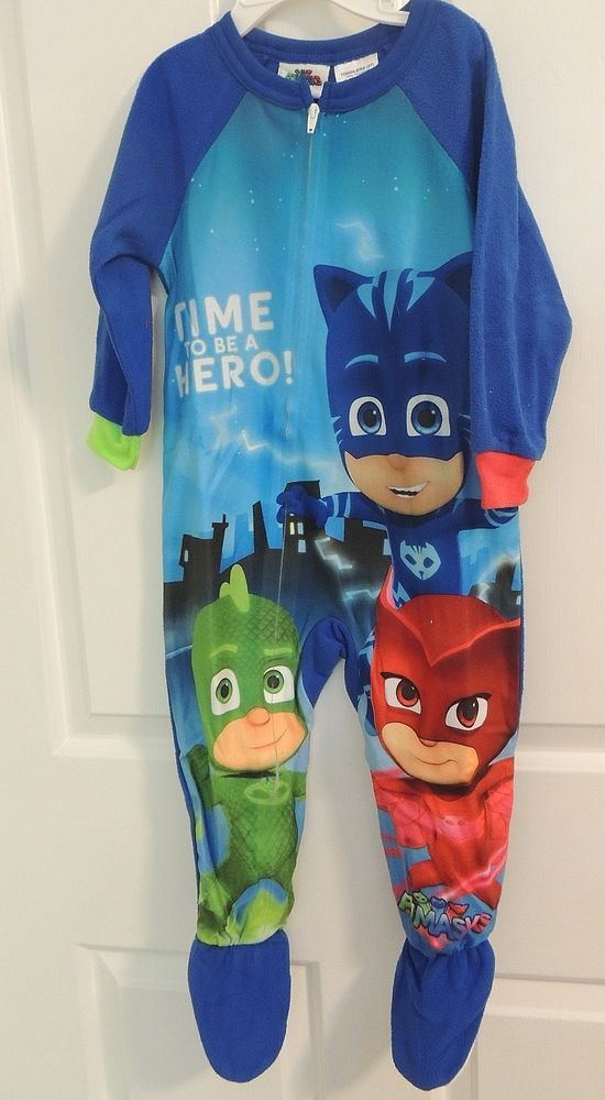 New Unisex Toddler PJ Masks Footed Pajamas Sleeper Disney Junior ...