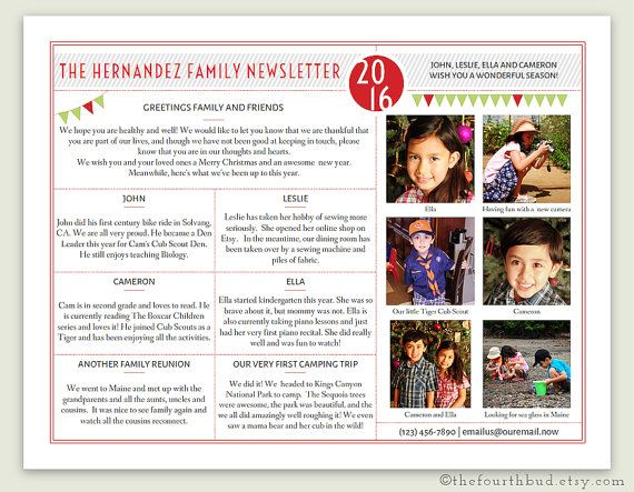 Christmas Newsletter  Year In Review  Template In Pdf For Print