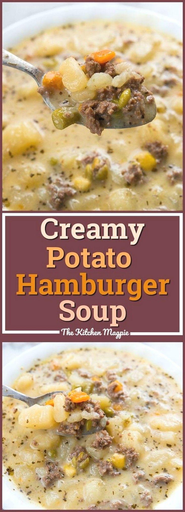 Creamy Potato & Hamburger Soup   Soup Recipes Ideas images