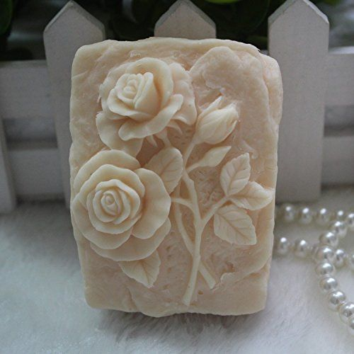 Creativemoldstore 1pcs Square Shaped Rose (z06) Craft Art Silicone Soap Mold Craft Molds DIY Handmade Soap Mould ** Read more  at the image link.