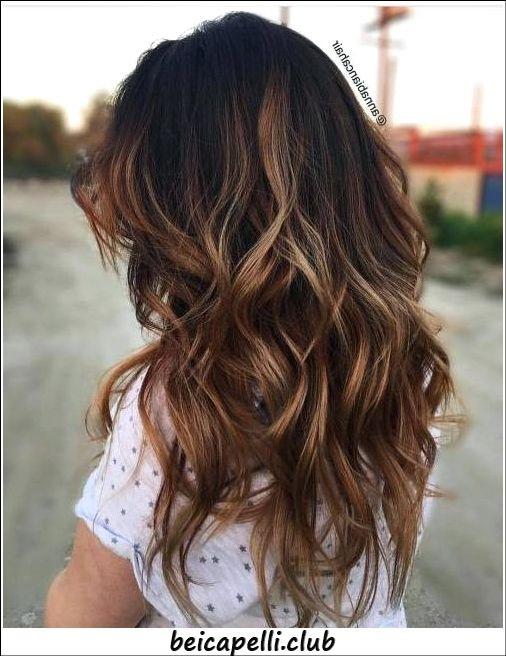 Riflessi capelli color caramello