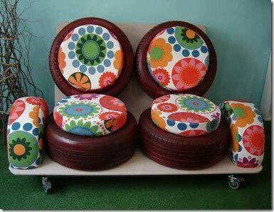 100 diy m bel aus autoreifen altreifen recycling autoreifen reifen und alte reifen. Black Bedroom Furniture Sets. Home Design Ideas