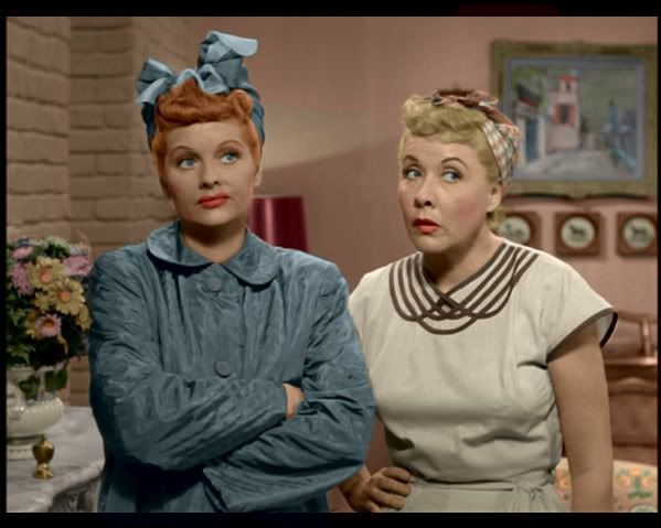 lucy and ethel in color |     changes like the couch and
