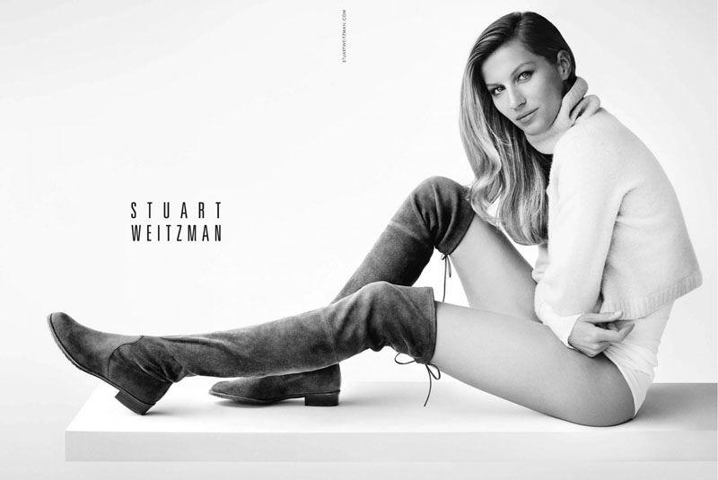 Stuart Weitzman Fall 2014 | Gisele Bündchen por Mario Testino #FashionCampaigns #fallboots