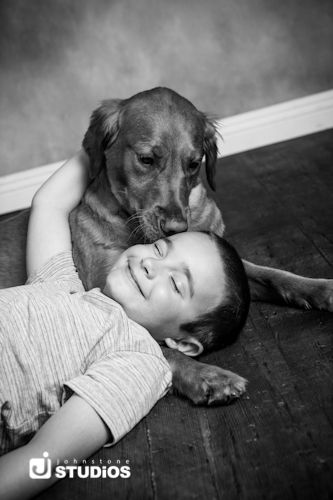 Black And White Photo Of A Young Boy And His Dog Can T You Feel