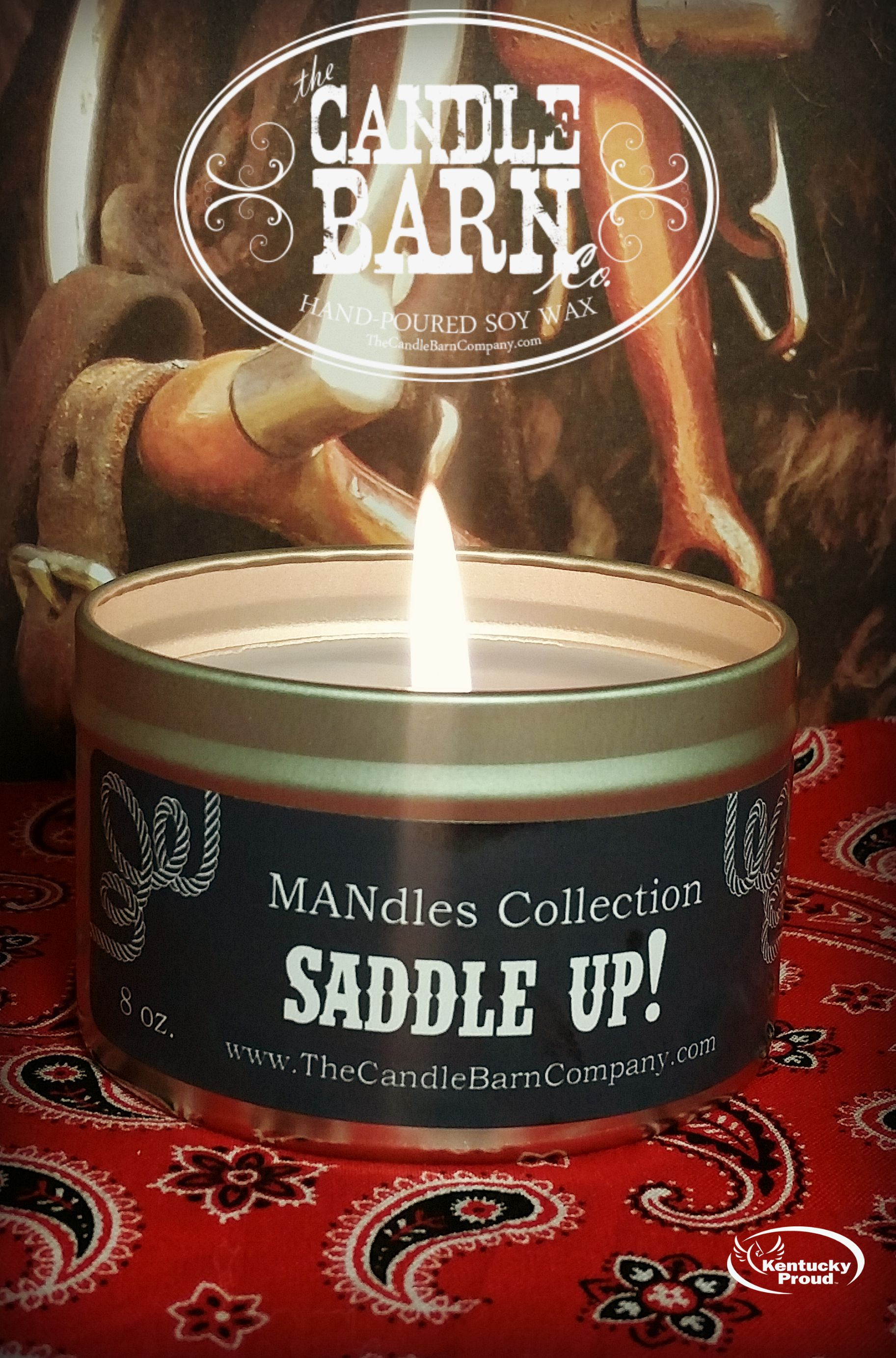 MANdles Collection - Saddle Up!  Smells just like a saddle shop or an overstuffed leather sofa.  Perfect for any man cave.