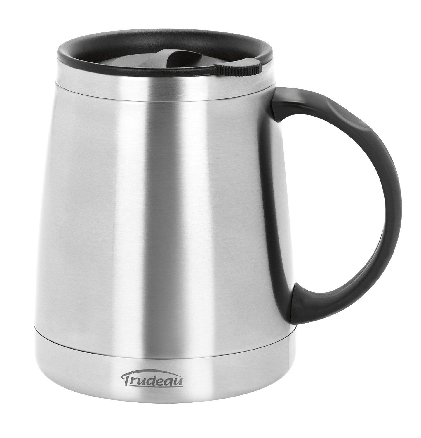 Stainless Steel Trudeau Donoti Wide Bottom Desk Mug