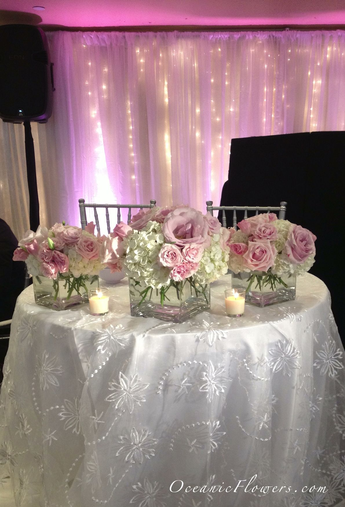 Pink and White Medium Arrangements for the Sweetheart Table | Medium ...