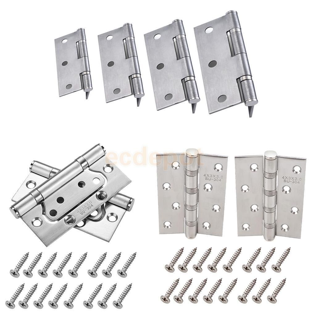 Grade 7 Door Hinges in Satin Stainless Steel for Internal Doors