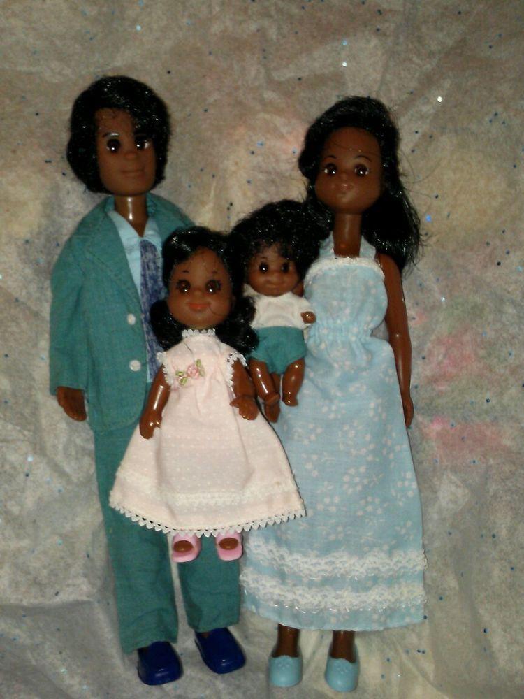 1977 Rare AA Mattel SuNsHiNe happy FuN FaMiLy of 4 Nice +