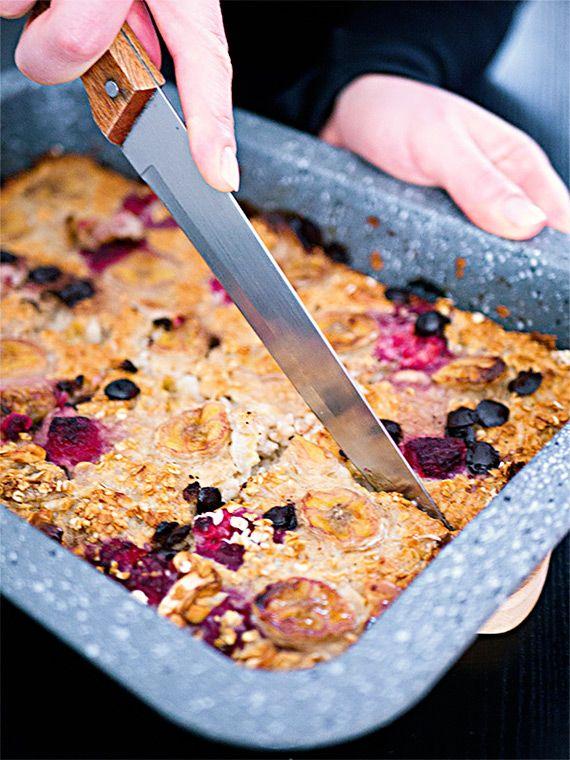Baked Oatmeal Grundrezept - Meal Prep fürs Frühstück #meals
