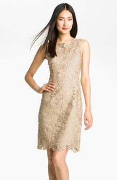 tan lace dress - Google Search | Wedding | Pinterest | Lace ...