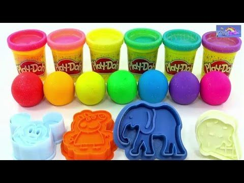 Learn Colors Play Doh Ice Cream Popsicle Peppa Pig Elephant Molds Fun & ...