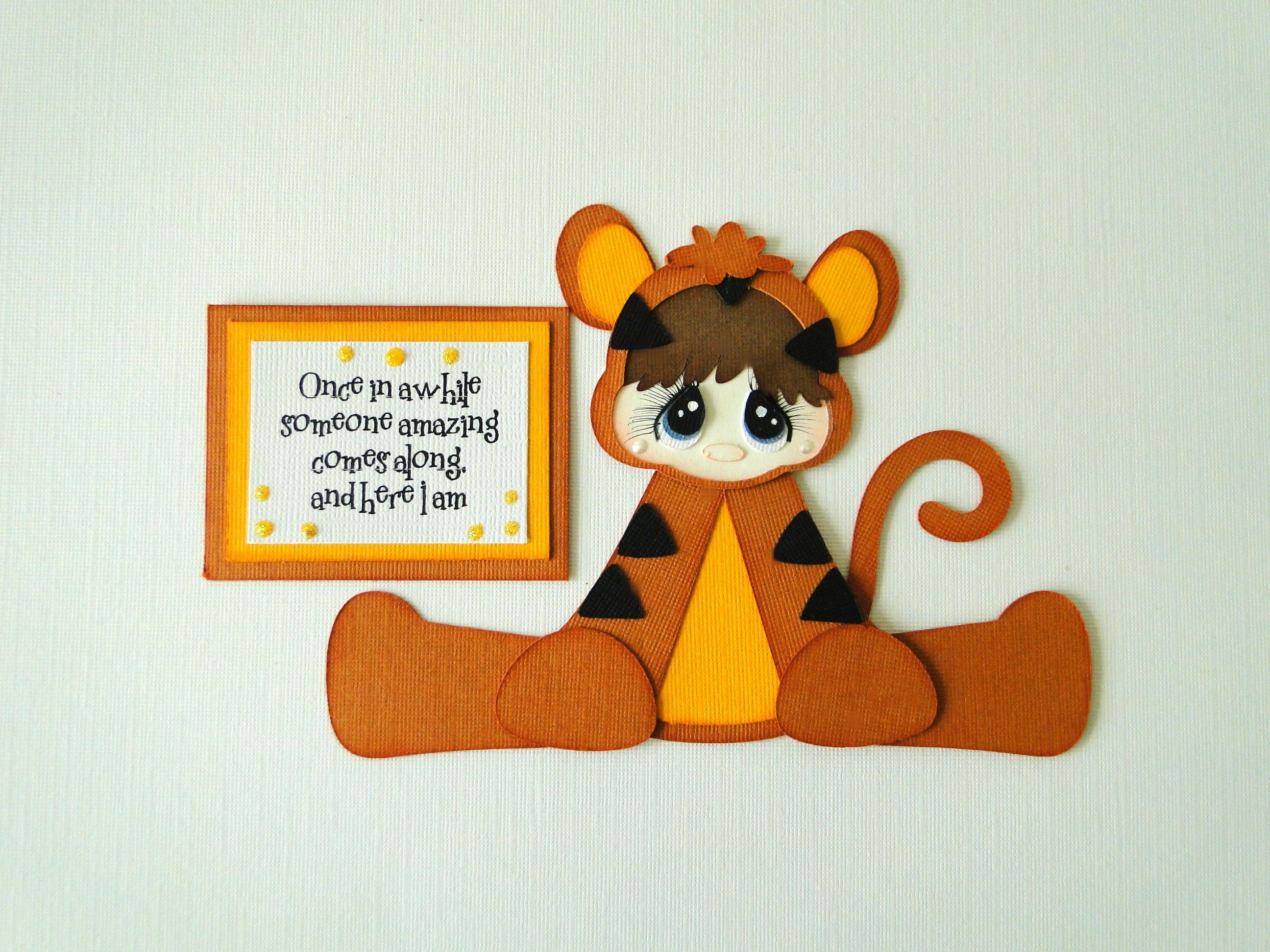 Tigger Boy Girl Paper Piecing Embellishment