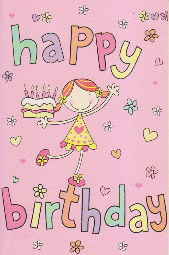 Girls Happy Birthday Card For A Girl Birthday Card Of Girl