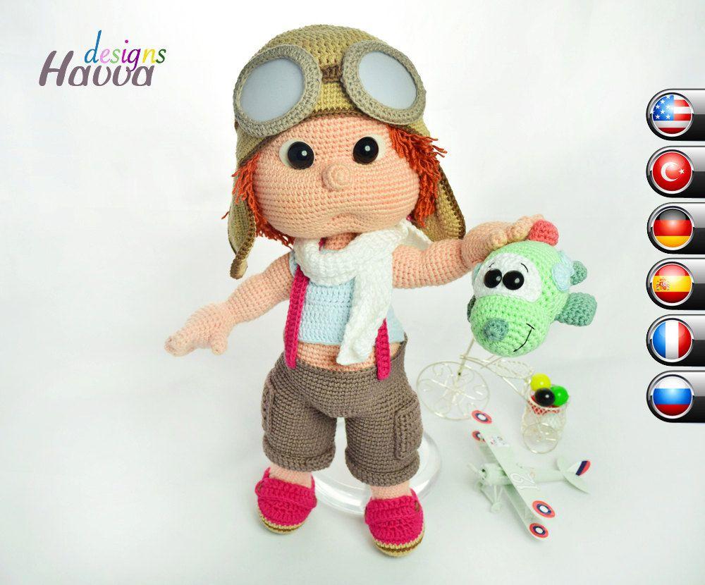 Tommy With Aviator Costume - Downloadable Crochet Pattern | crochet ...