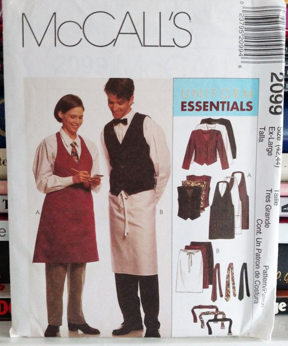1999 McCall's Uniform Essentials Pattern # 2099-Unisex