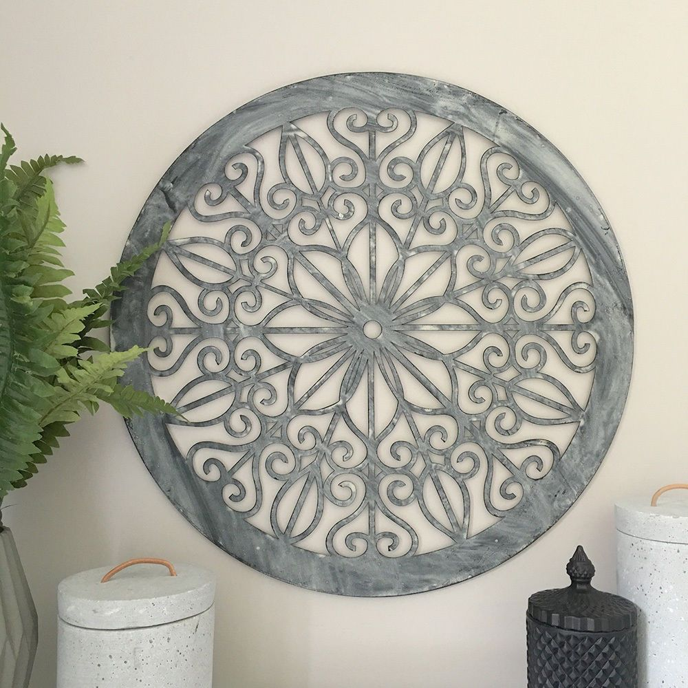 Decorative Round Metal Wall Panel Garden Art Screen Decor Sculpture Outdoor