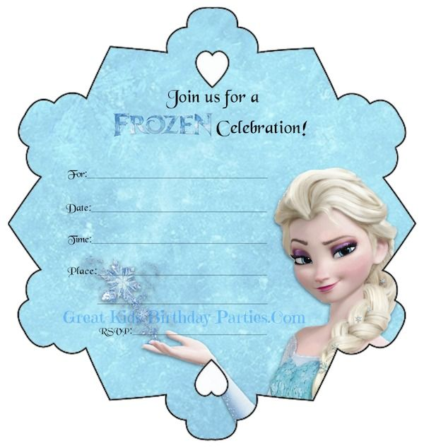 graphic relating to Frozen Printable Invitations called Pin upon Do it yourself