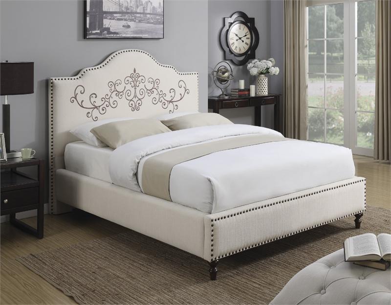 Coaster Homecrest Upholstered Bed Las Vegas Furniture Online Lasvegasfurnitureonline Lasvegasfurniture With Images Upholstered Beds Upholstery Bed King Upholstered Bed