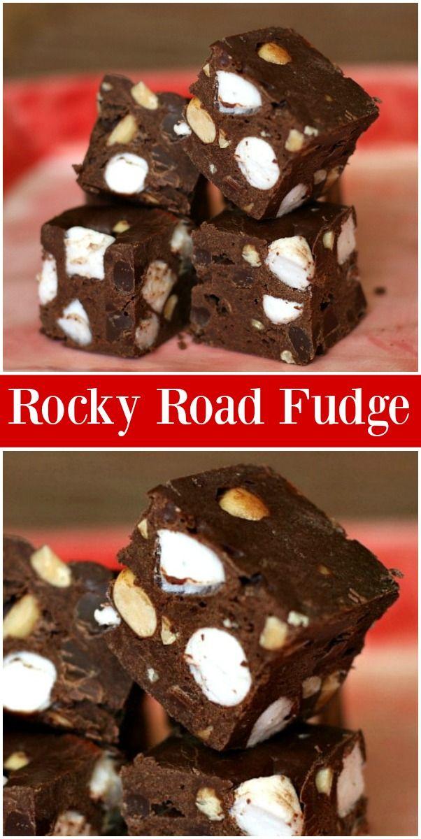 Rocky Road Fudge #rockyroadfudge
