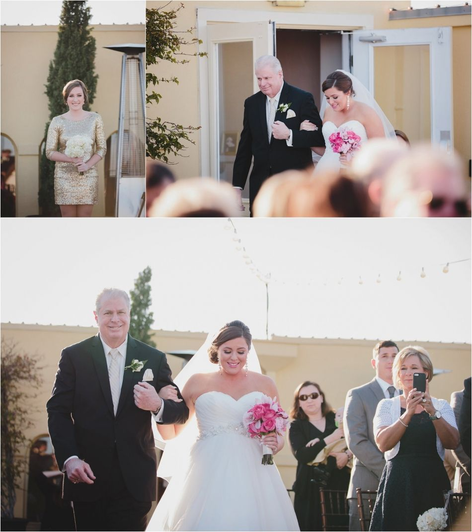 Ceremony And Reception In Same Room: Bride And Groom Downtown St. Augustine, FL. Wedding