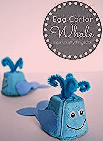 Photo of Egg Carton Whale Craft for Kids