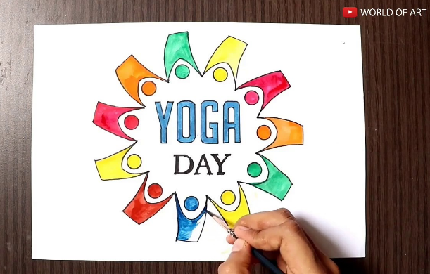 International Yoga Day Drawing World Yoga Day Subscribe For Free Https Www Youtube Com Channel Uc9 Stdqik World Yoga Day Yoga Day International Yoga Day